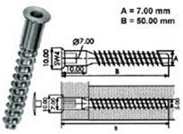Винт- конфирмат шестигранник 7x50